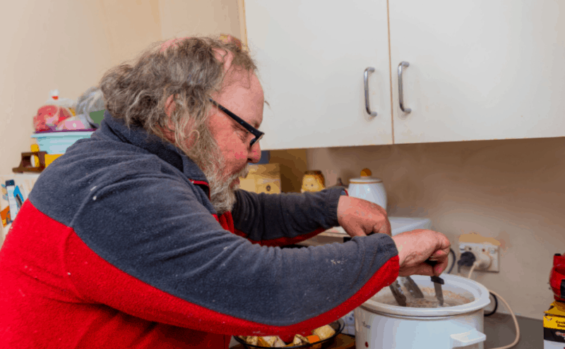 Ivan is always keen to try new recipes and feels confident to cook with the support of Golden City Support Services.