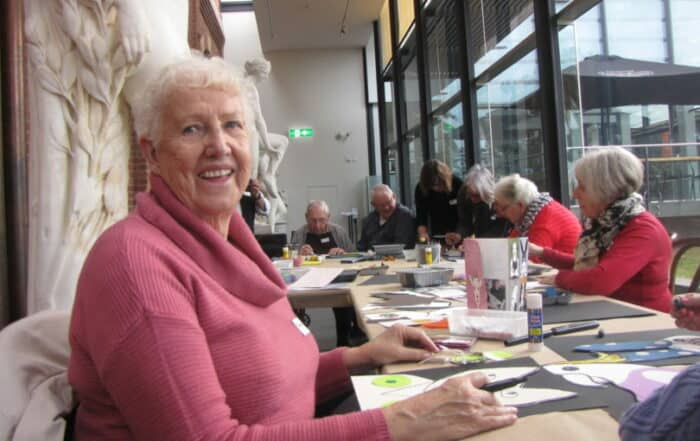 Meet Me at the Gallery is a monthly event for people in the early to mid stages of dementia, hosted by Golden City Support Services and the Bendigo Art Gallery.