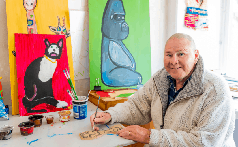 Wayne had never painted before. With the support of his Golden City Support Services Support Coordinator, he tried something new.
